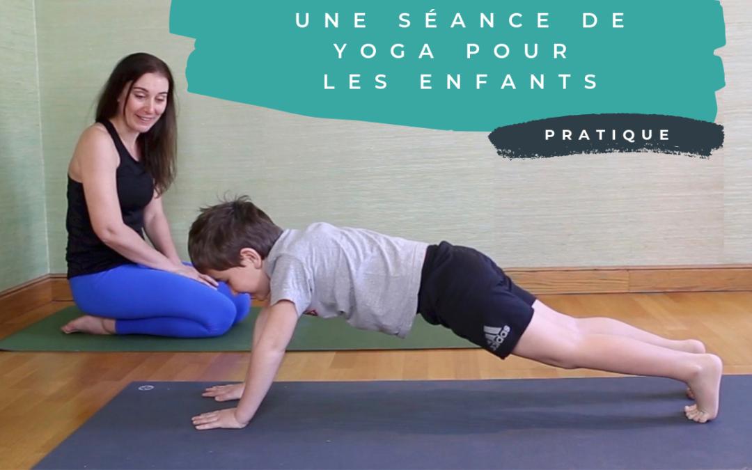 Une séance de yoga pour les enfants …